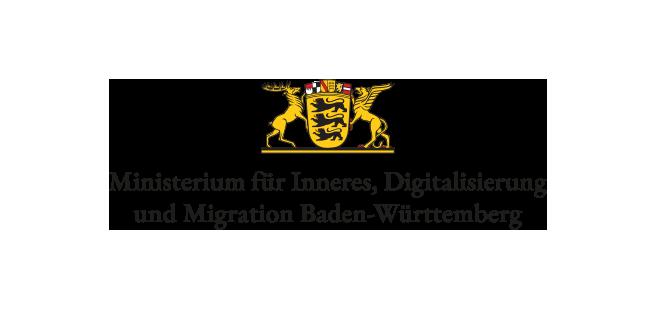 LENS SEAL® Ministerium für Inneres, Digitalisierung und Migration Baden-Württemberg Logo